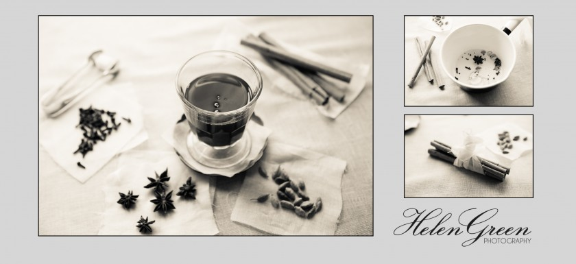 3 images of chai tea