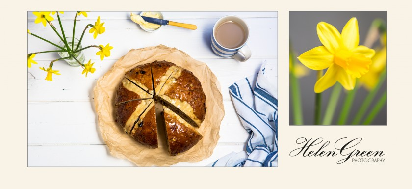 supersize hot cross bun