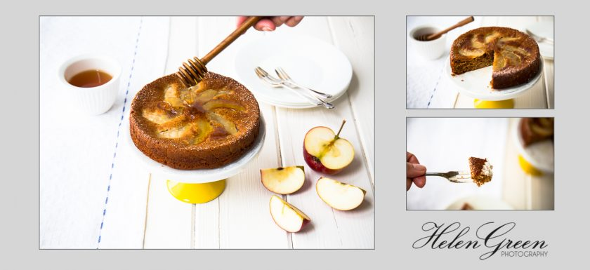helen green apple and honey cake 3 images