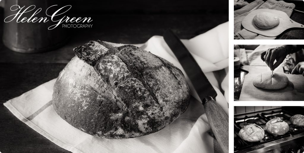 helen green bread with knife