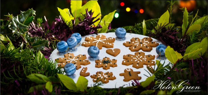 Gingerbread biscuits at Christmas by Helen Green Photography